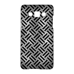 Woven2 Black Marble & Gray Metal 2 (r) Samsung Galaxy A5 Hardshell Case  by trendistuff