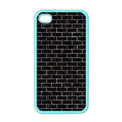 Brick1 Black Marble & Gray Stone Apple Iphone 4 Case (color) by trendistuff