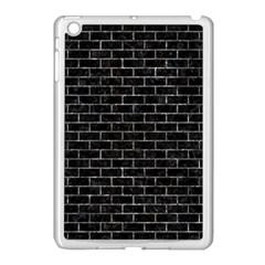 Brick1 Black Marble & Gray Stone Apple Ipad Mini Case (white) by trendistuff