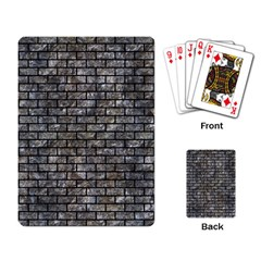 Brick1 Black Marble & Gray Stone (r) Playing Card by trendistuff