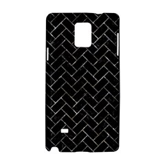 Brick2 Black Marble & Gray Stone Samsung Galaxy Note 4 Hardshell Case by trendistuff