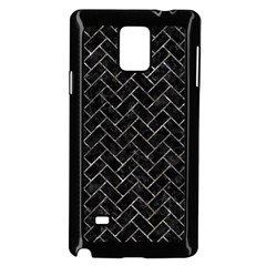 Brick2 Black Marble & Gray Stone Samsung Galaxy Note 4 Case (black) by trendistuff