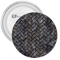 Brick2 Black Marble & Gray Stone (r) 3  Buttons by trendistuff