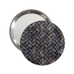 Brick2 Black Marble & Gray Stone (r) 2 25  Handbag Mirrors by trendistuff