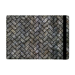 Brick2 Black Marble & Gray Stone (r) Apple Ipad Mini Flip Case by trendistuff