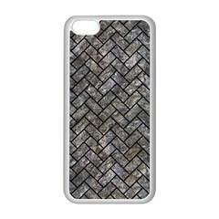 Brick2 Black Marble & Gray Stone (r) Apple Iphone 5c Seamless Case (white) by trendistuff