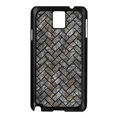 Brick2 Black Marble & Gray Stone (r) Samsung Galaxy Note 3 N9005 Case (black) by trendistuff
