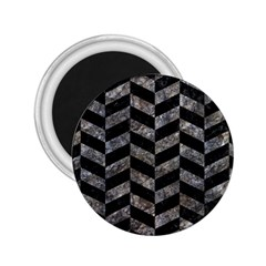 Chevron1 Black Marble & Gray Stone 2 25  Magnets by trendistuff