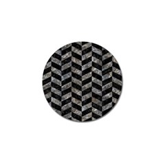 Chevron1 Black Marble & Gray Stone Golf Ball Marker (10 Pack) by trendistuff