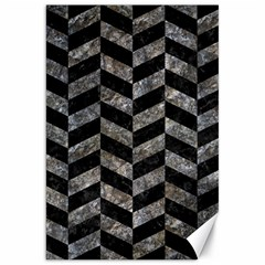 Chevron1 Black Marble & Gray Stone Canvas 20  X 30   by trendistuff