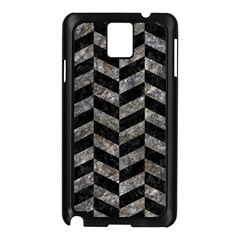 Chevron1 Black Marble & Gray Stone Samsung Galaxy Note 3 N9005 Case (black) by trendistuff