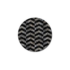 Chevron2 Black Marble & Gray Stone Golf Ball Marker (10 Pack) by trendistuff
