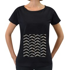Chevron2 Black Marble & Gray Stone Women s Loose Fit T Shirt (black) by trendistuff