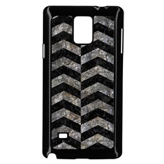 Chevron2 Black Marble & Gray Stone Samsung Galaxy Note 4 Case (black) by trendistuff