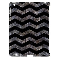 Chevron3 Black Marble & Gray Stone Apple Ipad 3/4 Hardshell Case (compatible With Smart Cover) by trendistuff