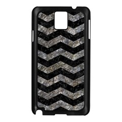 Chevron3 Black Marble & Gray Stone Samsung Galaxy Note 3 N9005 Case (black) by trendistuff