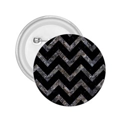 Chevron9 Black Marble & Gray Stone 2 25  Buttons