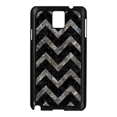 Chevron9 Black Marble & Gray Stone Samsung Galaxy Note 3 N9005 Case (black) by trendistuff
