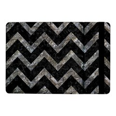 Chevron9 Black Marble & Gray Stone Samsung Galaxy Tab Pro 10 1  Flip Case by trendistuff