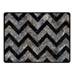 Chevron9 Black Marble & Gray Stone (r) Fleece Blanket (small) by trendistuff