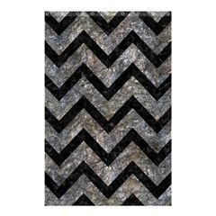 Chevron9 Black Marble & Gray Stone (r) Shower Curtain 48  X 72  (small)  by trendistuff
