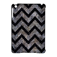 Chevron9 Black Marble & Gray Stone (r) Apple Ipad Mini Hardshell Case (compatible With Smart Cover) by trendistuff