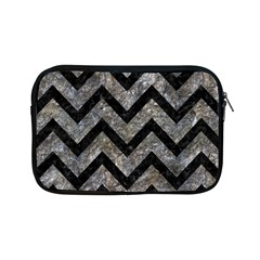 Chevron9 Black Marble & Gray Stone (r) Apple Ipad Mini Zipper Cases by trendistuff