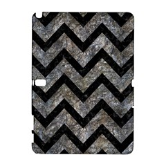 Chevron9 Black Marble & Gray Stone (r) Galaxy Note 1 by trendistuff