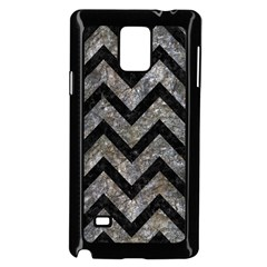 Chevron9 Black Marble & Gray Stone (r) Samsung Galaxy Note 4 Case (black) by trendistuff