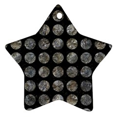 Circles1 Black Marble & Gray Stone Star Ornament (two Sides) by trendistuff