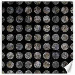 Circles1 Black Marble & Gray Stone Canvas 20  X 20   by trendistuff
