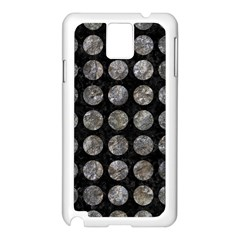 Circles1 Black Marble & Gray Stone Samsung Galaxy Note 3 N9005 Case (white) by trendistuff