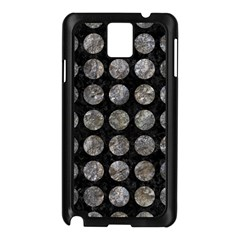 Circles1 Black Marble & Gray Stone Samsung Galaxy Note 3 N9005 Case (black) by trendistuff
