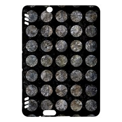 Circles1 Black Marble & Gray Stone Kindle Fire Hdx Hardshell Case by trendistuff
