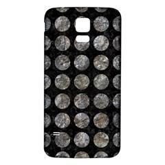 Circles1 Black Marble & Gray Stone Samsung Galaxy S5 Back Case (white) by trendistuff