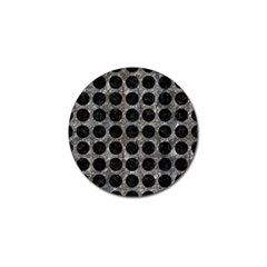 Circles1 Black Marble & Gray Stone (r) Golf Ball Marker by trendistuff