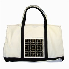 Circles1 Black Marble & Gray Stone (r) Two Tone Tote Bag by trendistuff