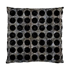Circles1 Black Marble & Gray Stone (r) Standard Cushion Case (two Sides) by trendistuff