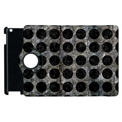 Circles1 Black Marble & Gray Stone (r) Apple Ipad 2 Flip 360 Case by trendistuff