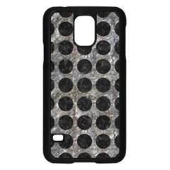 Circles1 Black Marble & Gray Stone (r) Samsung Galaxy S5 Case (black) by trendistuff