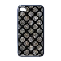 Circles2 Black Marble & Gray Stone Apple Iphone 4 Case (black) by trendistuff