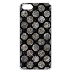 Circles2 Black Marble & Gray Stone Apple Iphone 5 Seamless Case (white) by trendistuff