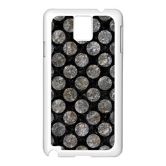 Circles2 Black Marble & Gray Stone Samsung Galaxy Note 3 N9005 Case (white) by trendistuff