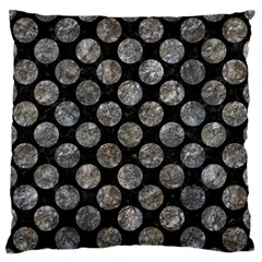Circles2 Black Marble & Gray Stone Large Flano Cushion Case (one Side) by trendistuff
