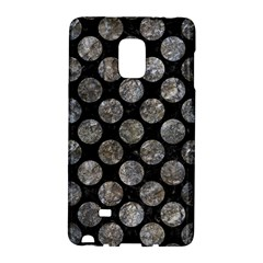 Circles2 Black Marble & Gray Stone Galaxy Note Edge by trendistuff