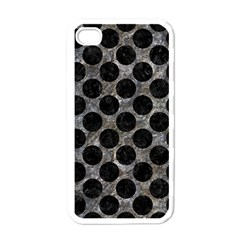 Circles2 Black Marble & Gray Stone (r) Apple Iphone 4 Case (white) by trendistuff