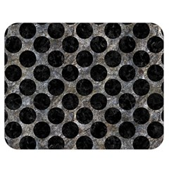 Circles2 Black Marble & Gray Stone (r) Double Sided Flano Blanket (medium)  by trendistuff