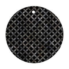 Circles3 Black Marble & Gray Stone Round Ornament (two Sides) by trendistuff