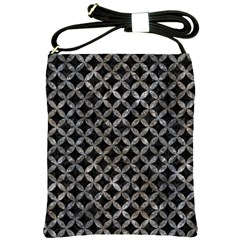 Circles3 Black Marble & Gray Stone Shoulder Sling Bags by trendistuff