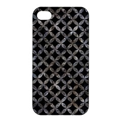 Circles3 Black Marble & Gray Stone Apple Iphone 4/4s Hardshell Case by trendistuff